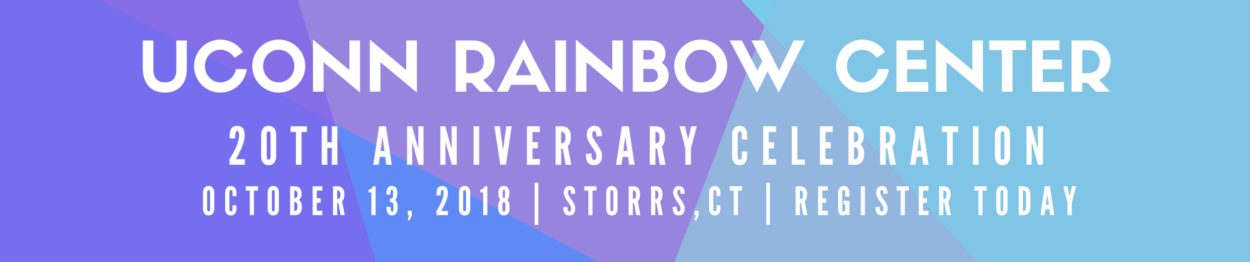 Rainbow Center 20th Anniversary Oct 13 Register Today